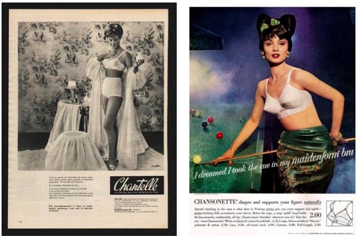 1960 publicité lingerie