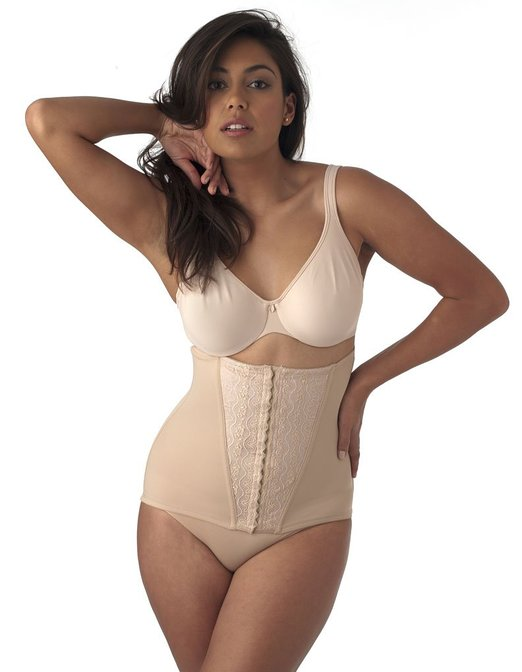 NO GO miraclesuit-shapewear-luxurious-lace-nude-waist-cincher-2732_2648349