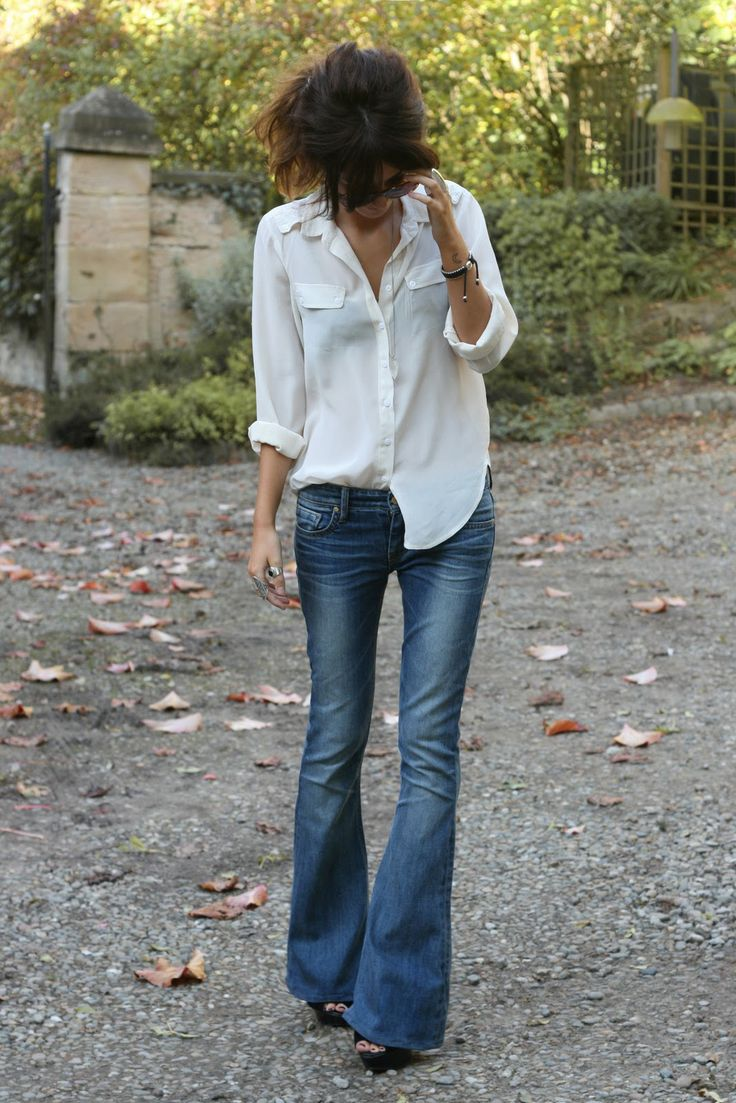 jan flare et chemise blanche